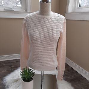NWT Zara (xs-med)light knit pink textured sweater